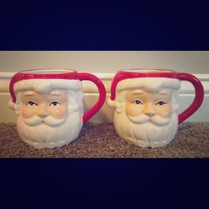Martha Stewart Vintage Santa Mugs Set of 2